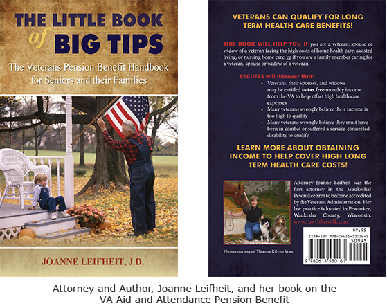 Attorney and Author, Joanne Leifheit, and her book on the VA Aid and Attendance Pension Benefit